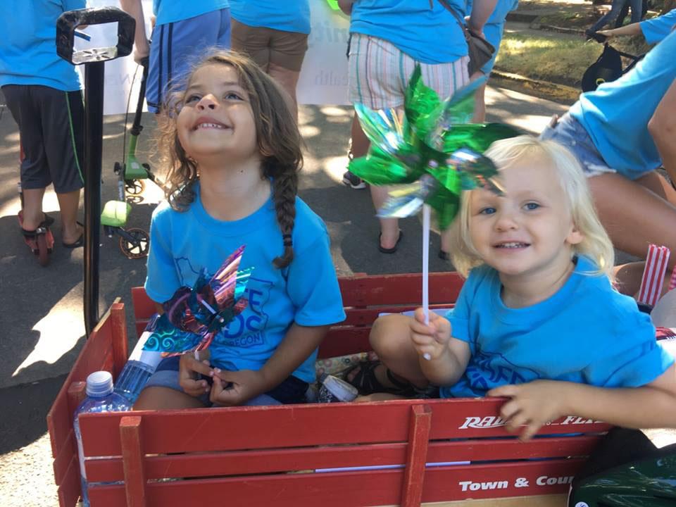 Girls in Wagon