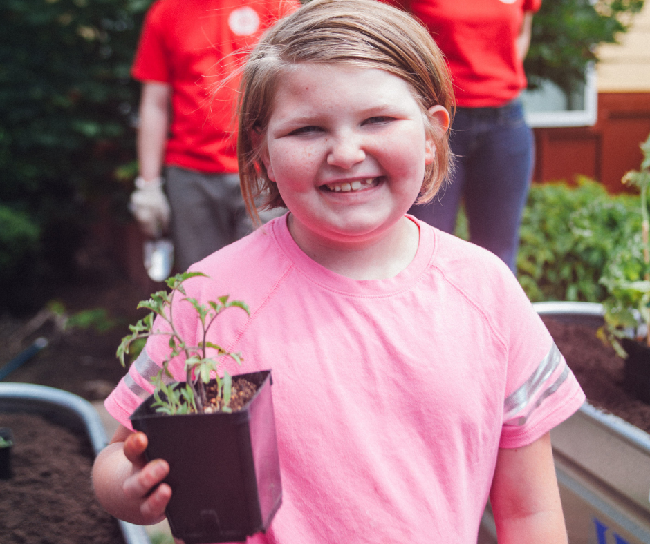You're Helping Kids [and Gardens] Thrive!